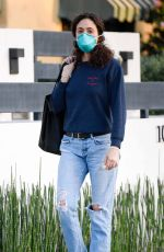 EMMY ROSSUM Wearing Mask Out and About in Los Angeles 04/07/2020