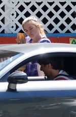 FLORENCE PUGH Wears Gloves Out Sopping in Los Angeles 04/03/2020