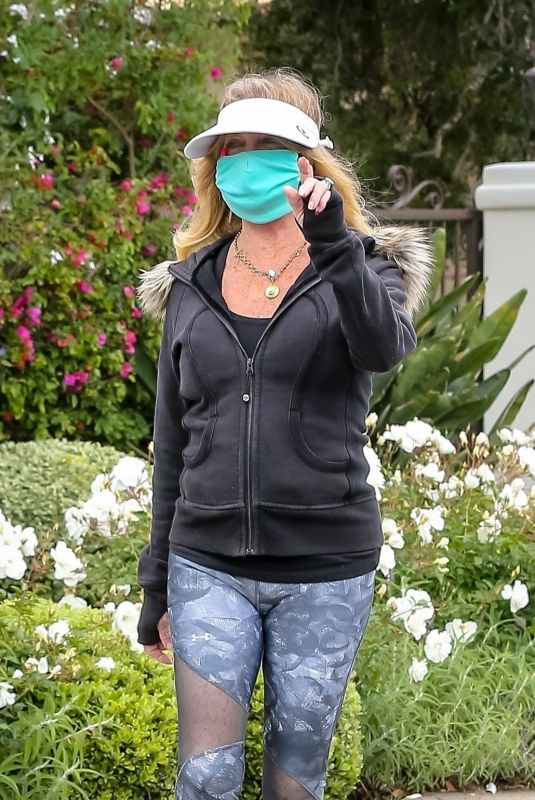 GOLDIE HAWN Out Hikinig in Pacific Palisades 04/18/2020