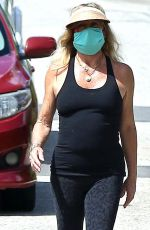 GOLDIE HAWN Wearing a Mask Out in Los Angeles 04/07/2020