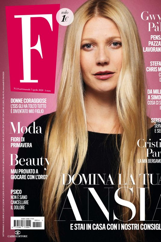 GWYNETH PALTROW in F Magazine, April 2020
