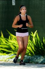 HANNAH ANN Out Jogging in Los Angeles 04/21/2020