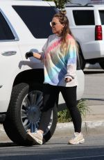 HAYLIE DUFF Out and About in Los Angeles 04/27/2020