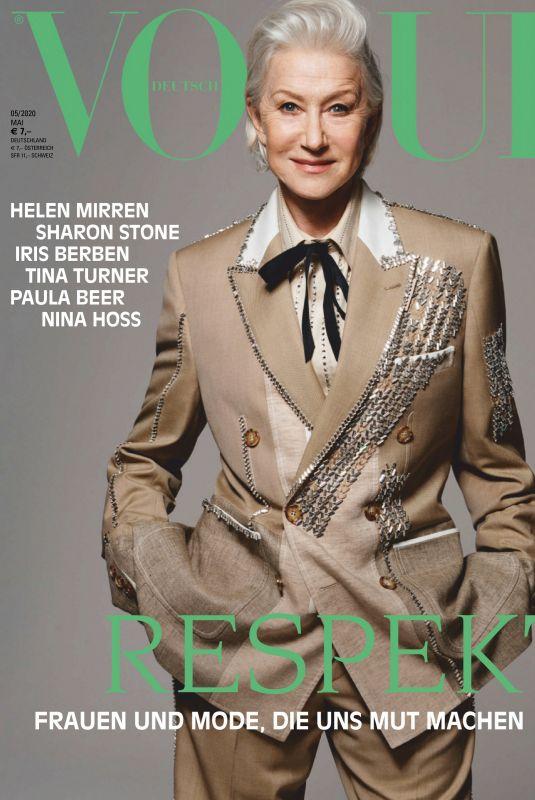 HELEN MIRREN in Vogue Magazine, Germany May 2020