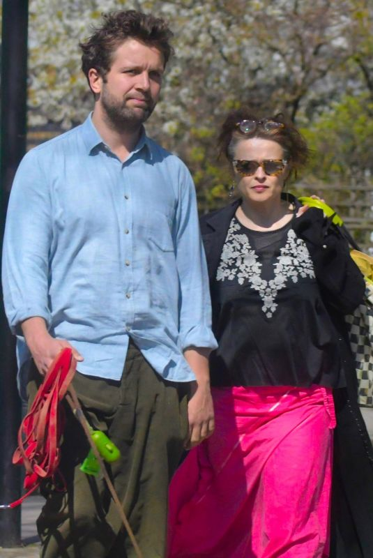 HELENA BONHAM CARTER and Rye Dag Holmboe Out in London 04/03/2020