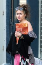 HELENA BONHAM CARTER and Rye Dag Holmboe Out with Their Dog in London 04/23/2020
