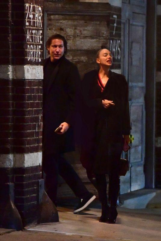 IRINA SHAYK and Vito Schnabel Night Out in New York 04/01/2020