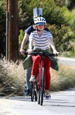 ISLA FISHER Out Riding a Bike in Los Angeles 04/03/2020