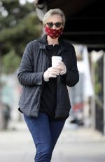 JANE LYNCH Wearing a Mask at King