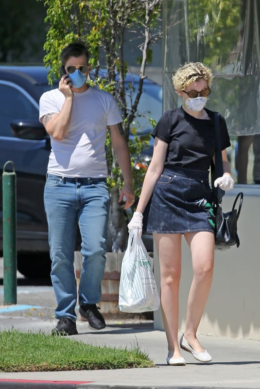 JULIA GARNER and Mark Foster Out in Burbank 04/28/2020