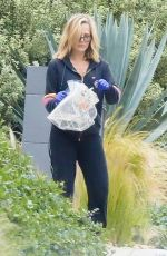 JULIE BENZ Outside Her Home in Los Angeles 04/12/2020