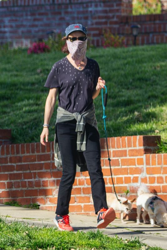 JULIETTE LEWIS Out with Her Dogs in Los Angeles 04/17/2020