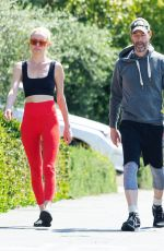 KATE BOSWORTH and Michael Polish Out with Their Dog in Los Angeles 04/01/2020