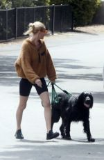 KATE BOSWORTH and Michael Polish Out with Their Dog in Los Angeles 04/02/2020