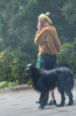 KATE BOSWORTH in a Cozy Fleece Jacket Out with Her Dog in Los Angeles 04/02/2020