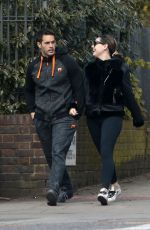 KELLY BROOK and Jeremy Parisi Out and About in London 03/31/2020