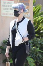 KELLY OSBOURNE Wearing Black Mask Out in Los Angeles 04/21/2020