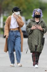 KELLY OSBOURNE Wearing Mask Out in Los Angeles 04/10/2020