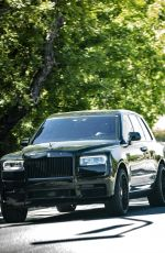 KHLOE KARDASHIAN Out Driving Her Rolls Royce in Hollywood 04/01/2020