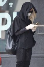 KIMBERLY STEWART Wearing Mask Out for Coffee in Los Angeles 04/19/2020