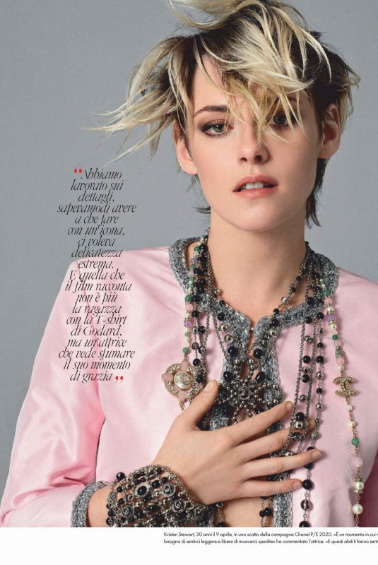 KRISTEN STEWART in Elle Magazine, Italy April 2020