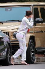 KYLIE JENNER Makeuo Free Out in Beverly Hills 04/20/2020