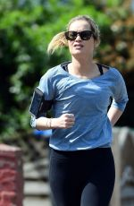 LAURA WHITMORE Out Jogging in London 04/15/2020