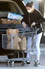 LAUREN SILVERMAN Wearing Mask and Gloves Out Shopping in Malibu 04/03/2020