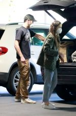 LILY COLLINS and Charlie McDowell Out Shopping in Los Angeles 04/03/2020