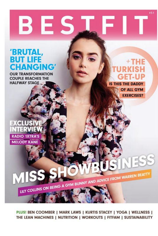 LILY COLLINS in Bestfit Magazine, 2020