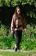 LILY COLLINS Out and About in Beverly Hills 04/07/2020