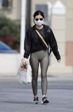 LUCY HALE Wears a Mask Heading to CVS in Los Angeles 04/04/2020