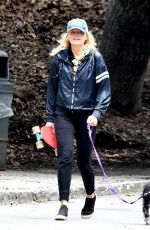 MALIN AKERMAN Out with Her Dog in Los Angeles 04/08/2020