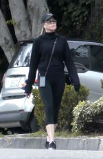 MELANIE GRIFFITH in Leggings Out Hiking in Los Angeles 04/07/2020