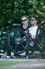 MIA GOTH and Shia Labeouf Out on Bike Ride in Pasadena 04/01/2020