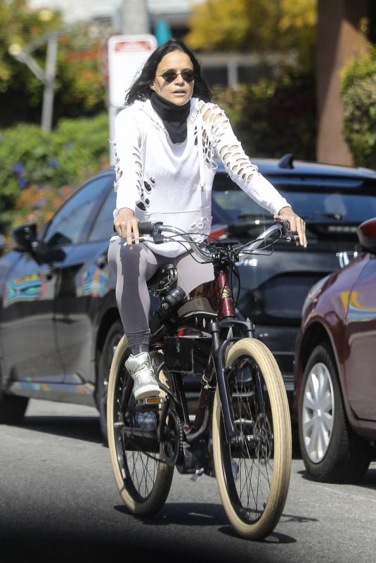 MICHELLE RODRIGUEZ Out Riding a Bike in Los Angeles 04/14/2020