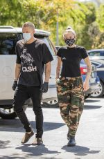 MILEY CYRUS Wearing Mask Out in Woodland Hills 04/23/2020