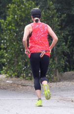 MINNIE DRIVER Out Jogging in Hollywood Hills 04/29/2020