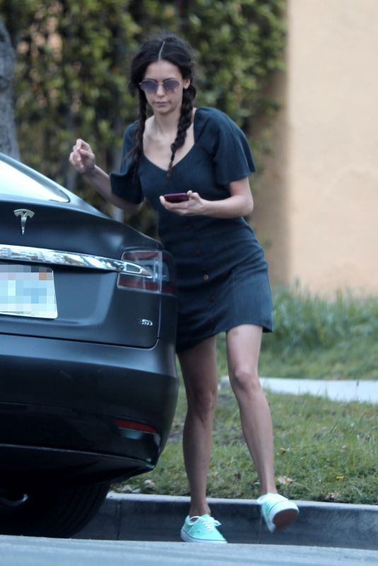 NINA DOBREV Leaves Her Home in West Hollywood 04/17/2020