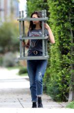NINA DOBREV Moving Some Furniture in Los Angeles 04/07/2020