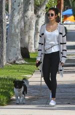 NINA DOBREV Out with Her Dog Maverick in Los Angeles 04/07/2020