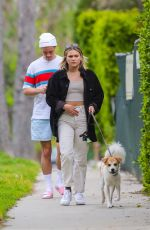 OLIVIA HOLT Out with Her Dog in Los Angeles 03/31/2020