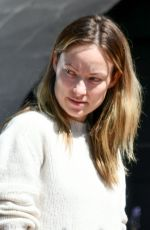 OLIVIA WILDE Makeup-free Out in Silverlake 04/14/2020