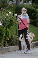 OLIVIA WILDE Out with Her Dog in Los Angeles 04/02/2020