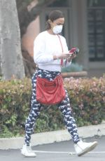 PAULA PATTON Wearing Mask and Gloves at ATM in Malibu 04/16/2020