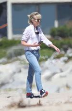 PORTIA DE ROSSI Out on the Beach in Los Angeles 04/16/2020