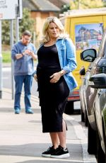 Pregant DANIELLE ARMSTRONG and Tom Edney Out in Essex 04/17/2020