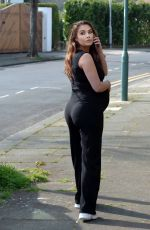 Pregnant CHLOE GOODMAN Out and About in Hove 04/07/2020