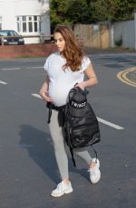 Pregnant CHLOE GOODMAN Out in Hove 04/10/2020