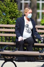 Pregnant CHLOE SEVIGNY and Sinisa Mackovic Wearing Mask Out in New York 04/28/2020